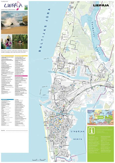 Large Liepaja Maps for Free Download and Print | High