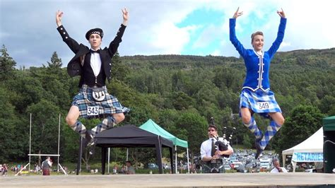 Great Highland Fling performance by competitors at Kenmore