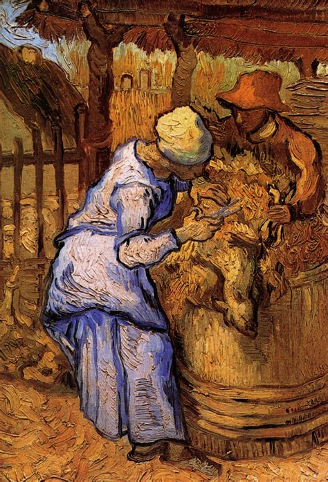 Sheep-Shearers, The after Millet, 1889 - Vincent van Gogh