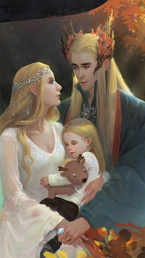 I normally don't post ones with Thranduil's 'wife,' but