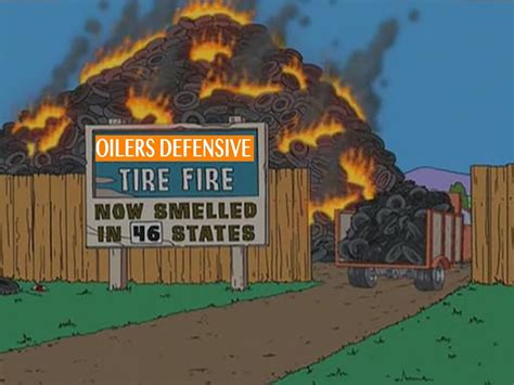 Putting Out an Oilers Tire Fire