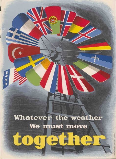 World History Facts — Poster by NATO, 1950, encouraging