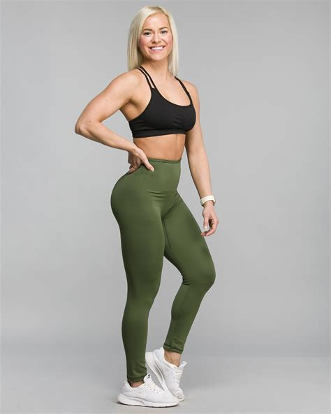 ABS2B Fitness Invisible Lines - Army Green - Tights