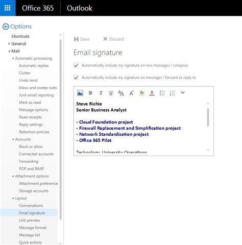 How do I set up my email signature in Outlook? - myCommunity