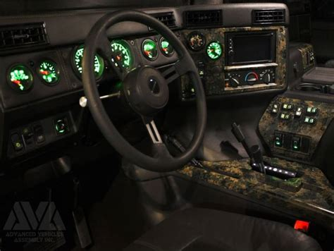 AVA Complete Humvee Interior Kit, 4 Door (Raw)