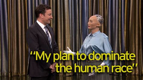 Sexy robot Sophia appears on The Tonight Show as she tells
