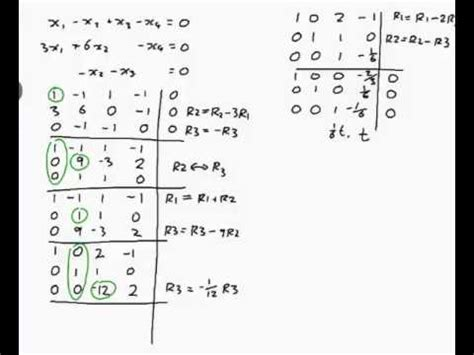 EXAMPLE: Finding the general solution to linear equations