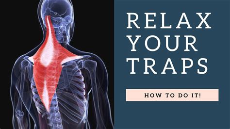RELAX a Painful Tight Trapezius Muscle in Neck Fast