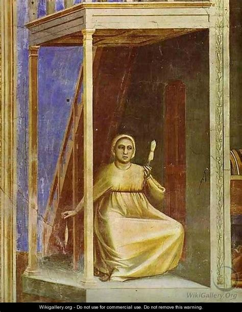 The Angel Appearing To St Anne Detail 1304-1306 - Giotto