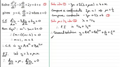 2nd Order Linear Differential Equations : Particular