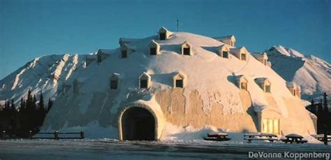 Igloo City - Giant Igloo-Shaped Building, Cantwell, Alaska