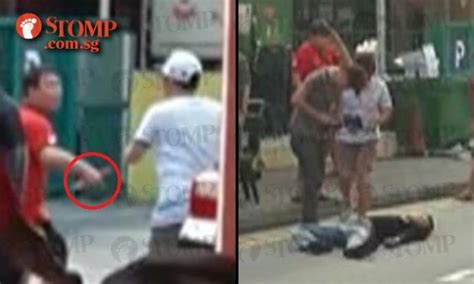 42-year-old man lies on road after fight at Geylang Lor 9