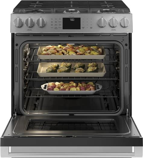Cafe CGS700M2NS5 30 Inch Slide-In Smart Gas Oven with True