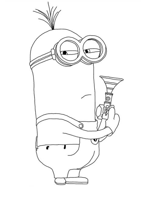 Minion Outline Drawing at GetDrawings | Free download