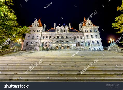 The New York State Capitol Building In Albany, Home Of The