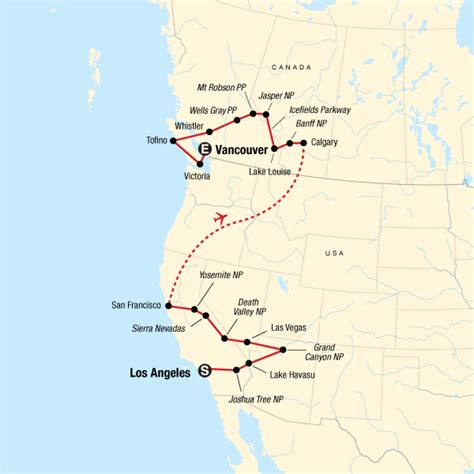 West Coast Discovery – US & Canada in United States, North