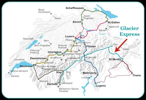glacier express route map - Europe Your Own Way