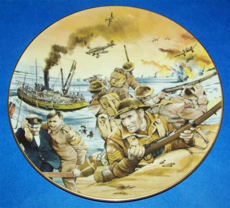 1991 BATTLE OF DUNKIRK WW2 CHURCHILL COLLECTOR PLATE BY