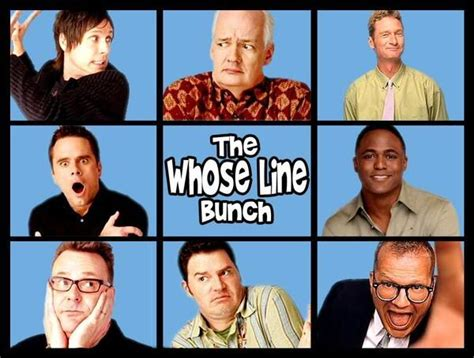 The cast of one of my favorite shows ever, Whose Line Is