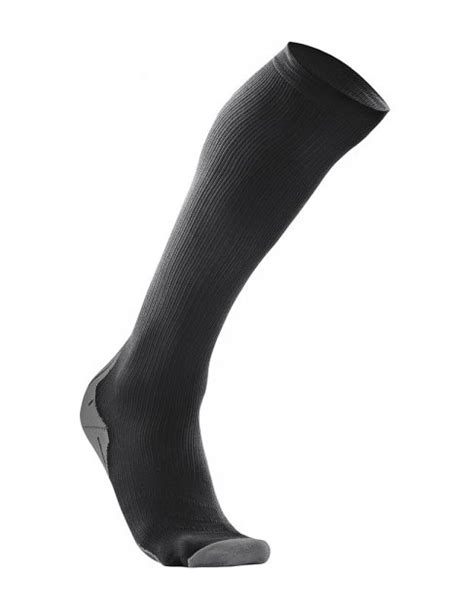 2XU Mens Compression Sock for Recovery Black/Black - Tights