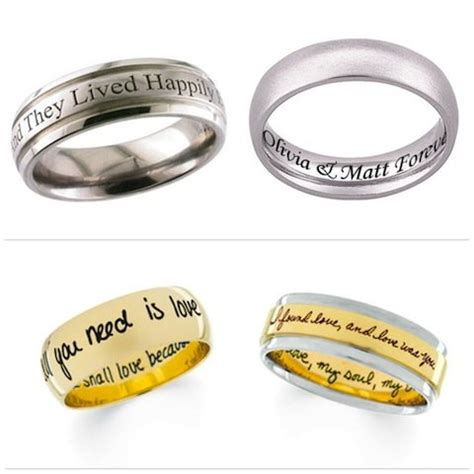 Engraved Rings With Quotes