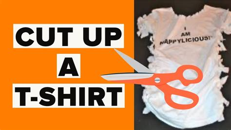 DIY t-shirt Reconstruction | How To TIE a FITTED t-shirt