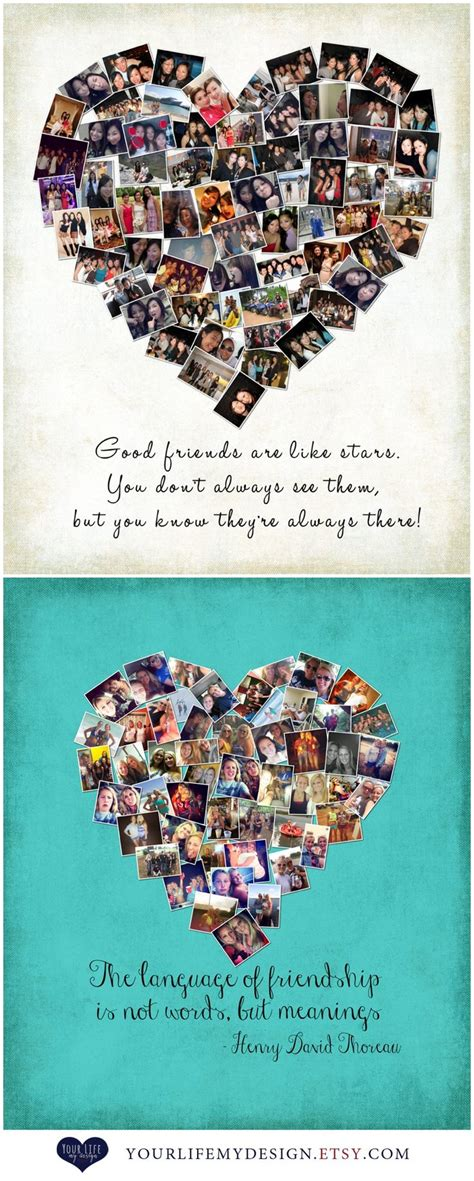 Gift for Best Friends, Personalized Gift, Photo Collage