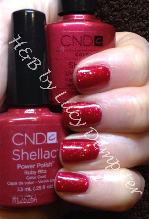 Starting to feel the party spirit with CND shellac ruby