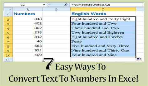7 Easy Ways To Convert Text To Numbers In Excel